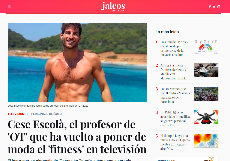 Portada el Español Cesc Escoola